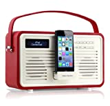 View Quest Retro ColourGen DAB+ Radio with Lightning dock - Red