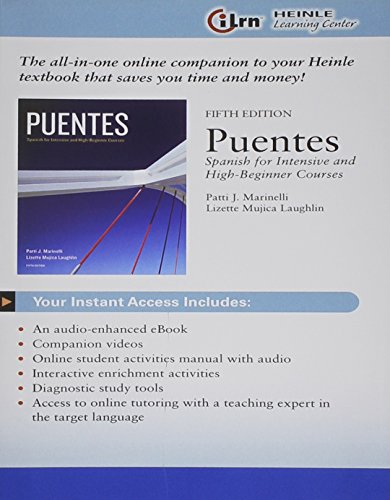 Puentes Access Card Only: Heinle Learning Center 3-Semster Printed Access Card
