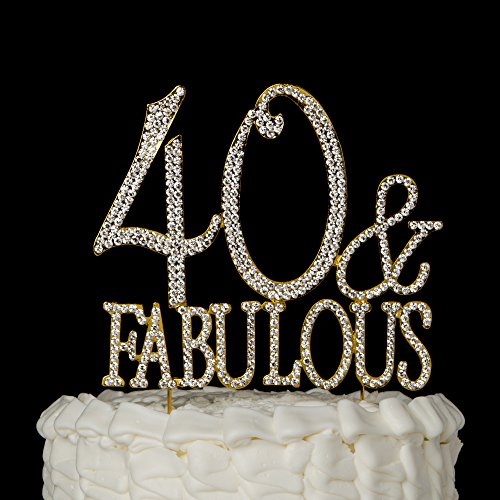 Cake Decorating For 40th Birthday : 40 & Fabulous Cake Topper for 40th Birthday Gold Party ...
