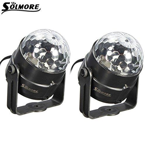 SOLMORE-2pcs-Lampe-de-Scne-RGB-Jeux-de-Lumire-Disco-Projecteur-DJ-clairage-Ampoule-Boule-Cristal-Commande-Sonore-Dco-Atmosphre-Soire-Fte-Anniversaire-Mariage-Bar-Bal-KTV-Club-5W-EU-Prise-220V