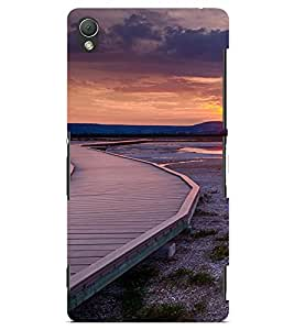 PrintVisa Travel Sunset Design 3D Hard Polycarbonate Designer Back Case Cover for Sony Xperia Z3 Mini