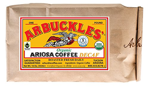 Arbuckle's Ariosa Organic Decaf Swiss Water Process Autodrip Ground Coffee 1lb (16oz) (Arbuckles Ariosa Coffee compare prices)