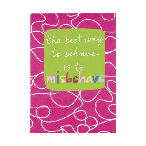C.R. Gibson Magnetic Mini Note Pad, Misbehave