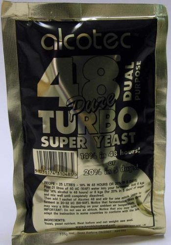 Alcotec 48-hour Turbo Yeast, 135 grams