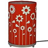 Craftter Gardern Of Flowers Red And White Round Table Lamp