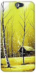Print Haat Plastic Back Case for HTC ONE A9 (Abstract-298)