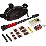 Roswheel Bicycle Bike Cycling Repair Tools Cycle Maintenance Kits Set with Pouch Pump, Red