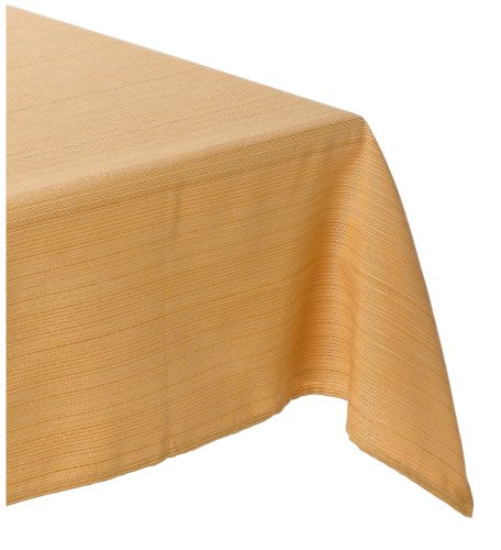 Bardwil Elements 60-inch By 102-inch Oblong / Rectangle Tablecloth, Sun