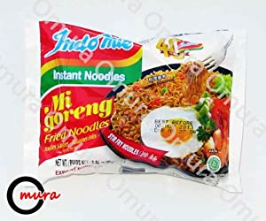 Indomie FRIED NOODLES 100% HALAL Mi Goreng (Pack of 30) by Omura Ramen
