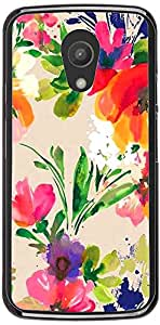PrintVisa Pattern Abstract Floral Case Cover for Motorola Moto G2 (2nd Gen.)