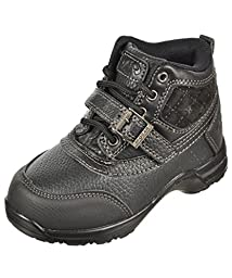 Mountain Gear Incline 4 Lil Kids Black Leather Boots (4 M US)