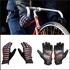 (チャリ&コー)Chari&Co NYC グローブ 手袋 [ブラウン×ピンク]POLCA DOT Smart Glove フィンガースロット ポリウレタン 男女兼用 M ブラウン×ピンク(並行輸入品)