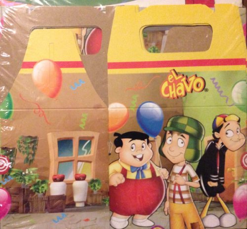 El Chavo Del Ocho 6 Pc Treat Boxes Party Favors Loot Bags Candy Supplies by Televisa