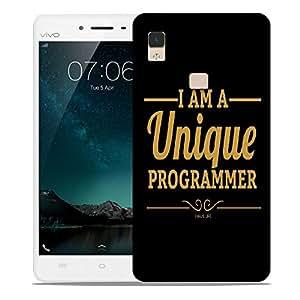 Snoogg I Am A Unique Programmer Designer Protective Back Case Cover For VIVIO V3 MAX