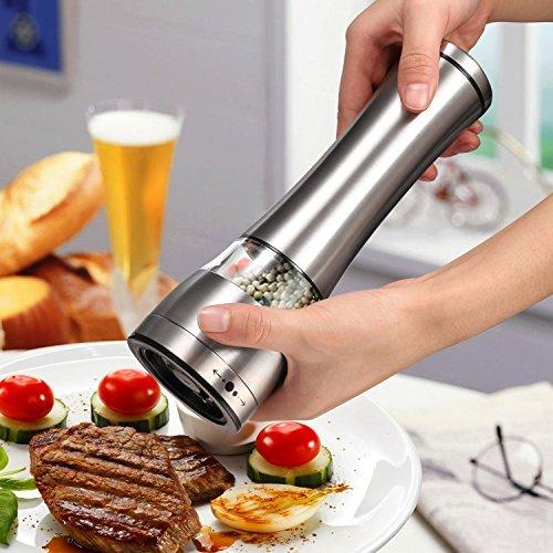 EchoAcc® Moulin à poivre et sel - Manuels et Réglables Acier Inoxydable avec Lame de Concassage d'Épices en Céramique