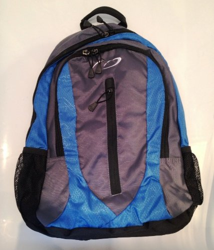 Daypack - School College Work Travel Gym Hiking Backpack Rucksack Bag (Blue and Black)