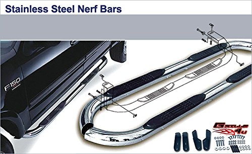 APS NB-N3096S Mirror Polished Nerf Bar Bolt Over for select Nissan Armada Models (Nissan Armada Nerf Bars compare prices)