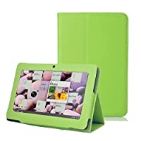 Eforstore Slim Fit Folio Stand Leather Case Cover for Q88 7 Inch Android Tablet Pc (Green) by Eforstore