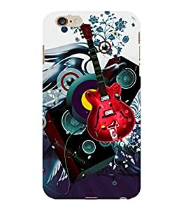 printtech Guitar Music Abstract Back Case Cover for Apple iPhone 6S Plus