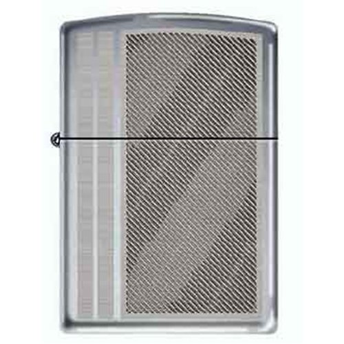 Zippo Lighter - Livin Large Striped Chrome