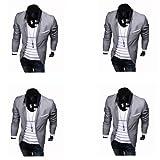 **Premium** Luxus Herren Slimfit Blazer Sakko Jacket Jacke Anzugsjacke Dress Jacket in Grau Grösse S von Avcibase