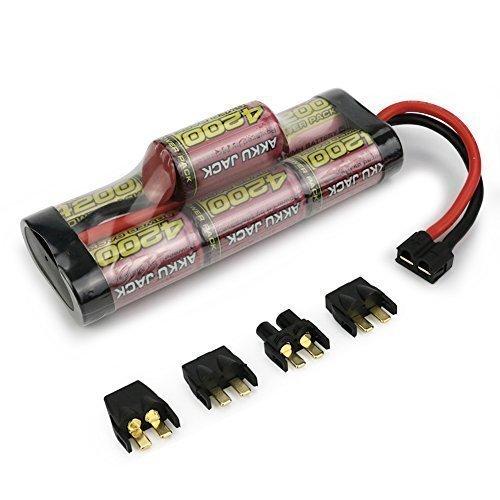 MELASTA 8.4V 4200mAh 7-cellulare NiMH Hump batteria con AMP sistema Universal Plug per auto RC Racing