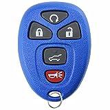 KeylessOption Keyless Entry Remote Control Car Key Fob Replacement 15913415 -Blue