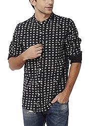 Chumbak Men's Casual Shirt (8904218042604_CMMCS004 M_Medium_Black)