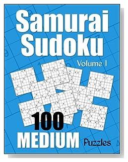 Samurai Sudoku Medium Puzzle Book - Volume 1