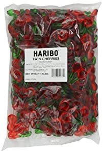 Haribo Gummi Candy, Twin Cherries, 5- Pound Bag
