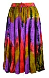 Jordash Tie Dye Embroidered Full-circle 3/4 Skirt JD/SK/8299 Womens Tiered Patchwork Festival Hippy Gypsy