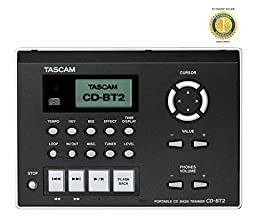 Tascam CD-BT2 Portable CD Bass Trainer with 1 Year Free Extended Warranty