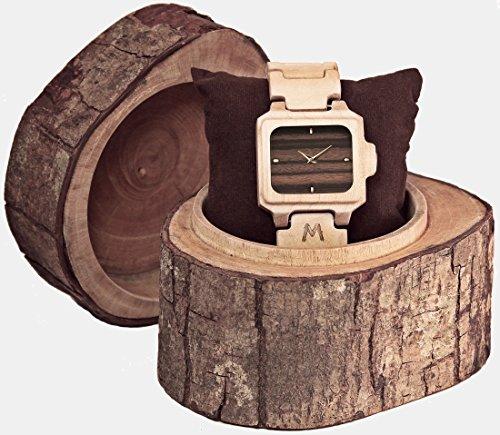 【国内正規代理店品】 MATOA (マトア) SUMBA ウッド ウォッチ 木製 腕時計 天然木 ジャパンムーブメント クオーツ クォーツ 男女兼用 高品質 環境に優しい