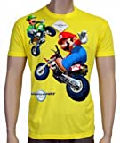 MarioKart -Mario und Luigi - NINTENDO WII T-SHIRT yellow, sz.XL
