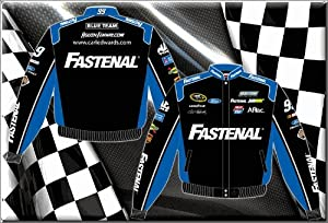 Buy 2014 Carl Edwards Fastenal Mens Black Twill NASCAR Jacket 3X by J.H. Design