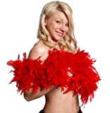 FEATHER BOA 80G THICK HEN NIGHT ACCESSORY FANCY DRESS FLAPPER BOAS IN 10 COLOURS 1920'S BURLESQUE FEATHERS