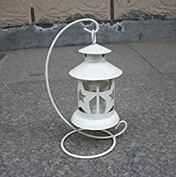 YONG Hollowing iron candlestick idea romantic wedding Lantern , white