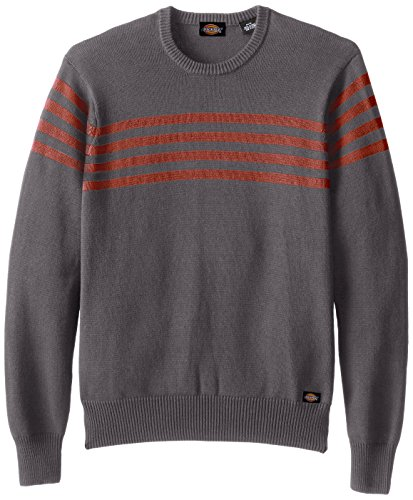 Dickies Men's Cooper Chest Stripe Crew, Charcoal, X-Large