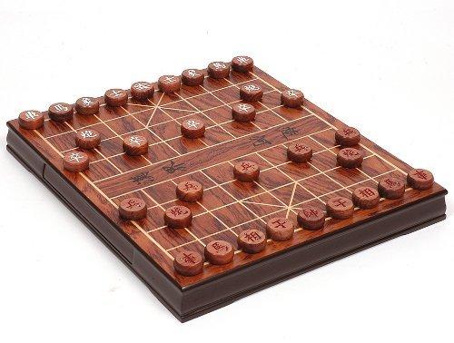 Woodstock GmbH - Noble Xiangqi avec des tuiles en bois de rose - la forme originale du jeu d'échecs - Echecs Chinois - Éléphant Chess - Echecs Chinois