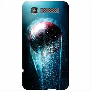 Intex Cloud Y11 Back Cover - Silicon Cricket Ball Designer Cases