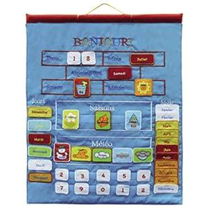 gueydon jouets sas 800536 jeu ducatif et scientifique calendrier tissu enfant. Black Bedroom Furniture Sets. Home Design Ideas