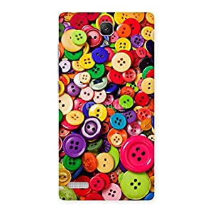 Delighted Button Lot Print Back Case Cover for Redmi Note 4