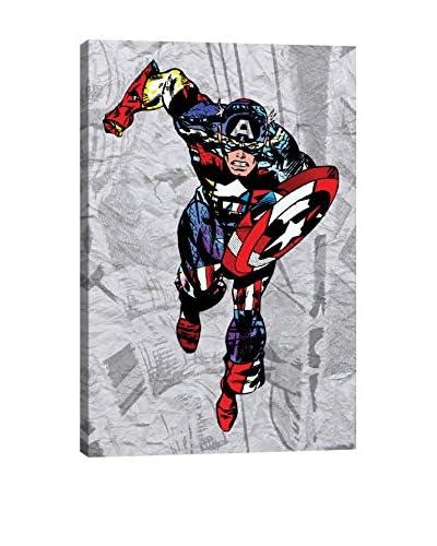Marvel Comics Gallery Captain Super Silhoutte Collage Canvas Print