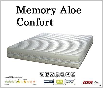 Materasso Memory Foam Mod. Aloe Confort Anallergico Sfoderabile Altezza Cm. 21 - Ergorelax - matrimoniale - 160 cm x 190 cm