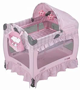 Evenflo MiniSuite Select Playard with Bassinet - Pink Cuddle Bear (Discontinued by Manufacturer)