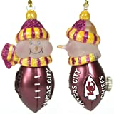 SC Sports Kansas City Chiefs Light Up Snowman- Set of 3 Set of 3 at Amazon.com
