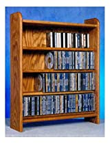 4 Shelf CD Storage (Honey Oak)
