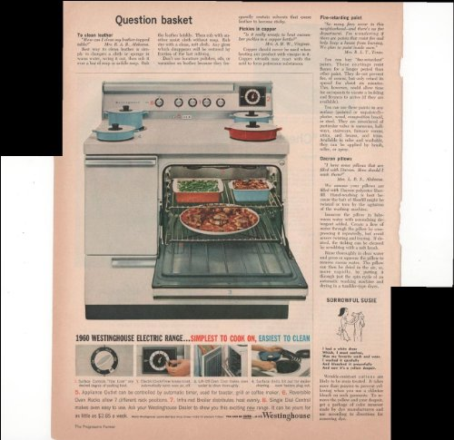 Westinghouse Electric Range Simplest To Cook On 1960 Farm Antique Advertisement