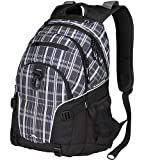 High Sierra Loop Backpack,Black Vertical Plaid/Black