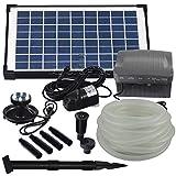 Agora-Tec® AT-Solar Bachlaufpumpen - Set 10W-BLH mit Akku...